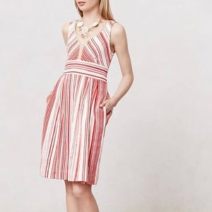 Anthropologie Postmark Poppy Stripe Dress